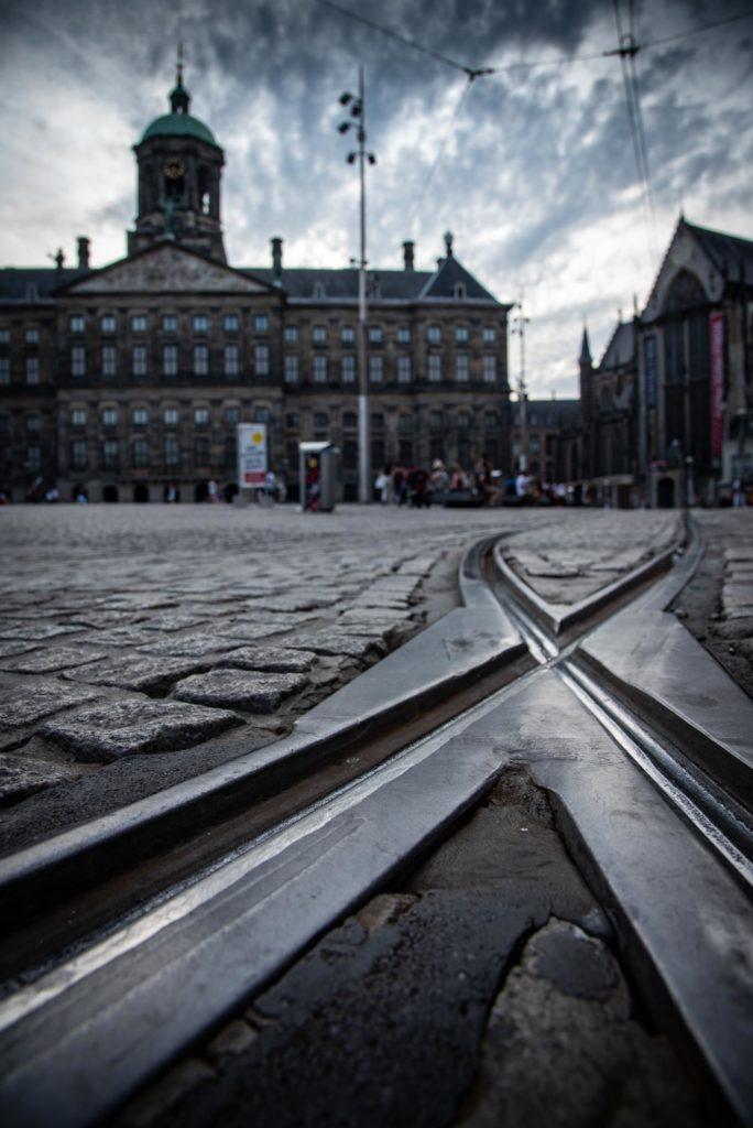 rail de tram à amsterdam