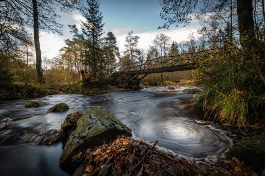 Le pont du cinquantenaire dans la vallée de la Hoëgne