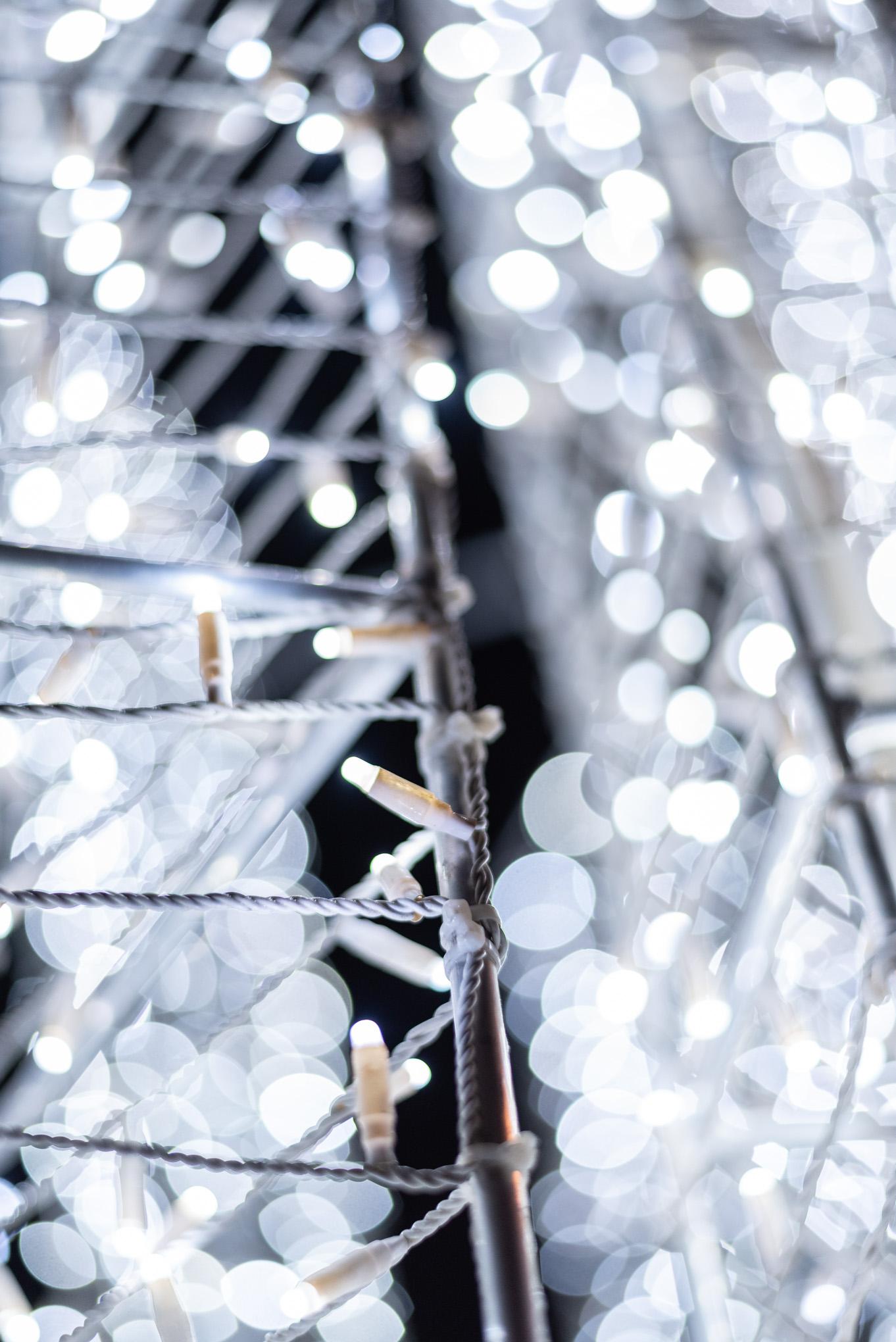 Vue intérieur de décoration de Noël