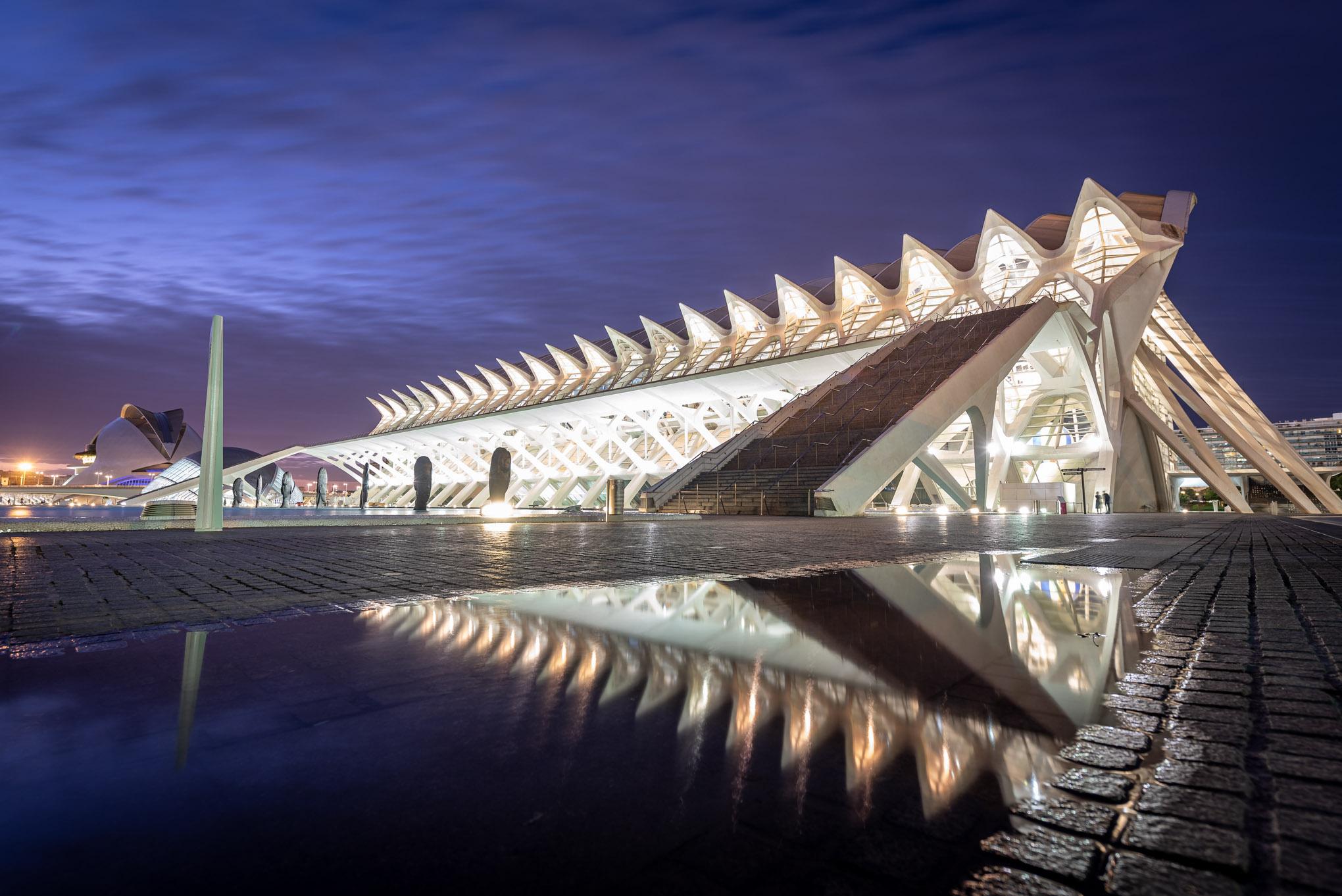 Valencia ,la cité des arts et des sciences.