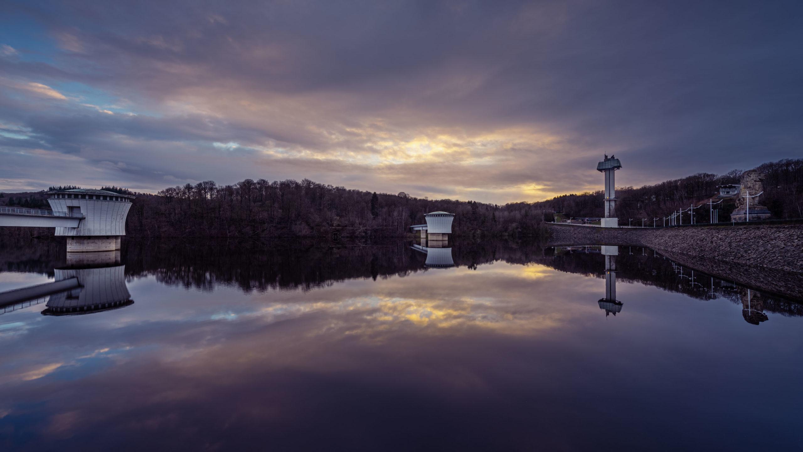 Le barrage du lac de la Gileppe