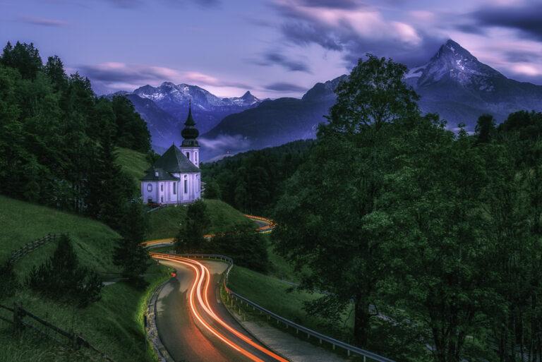 Light trail Allemagne